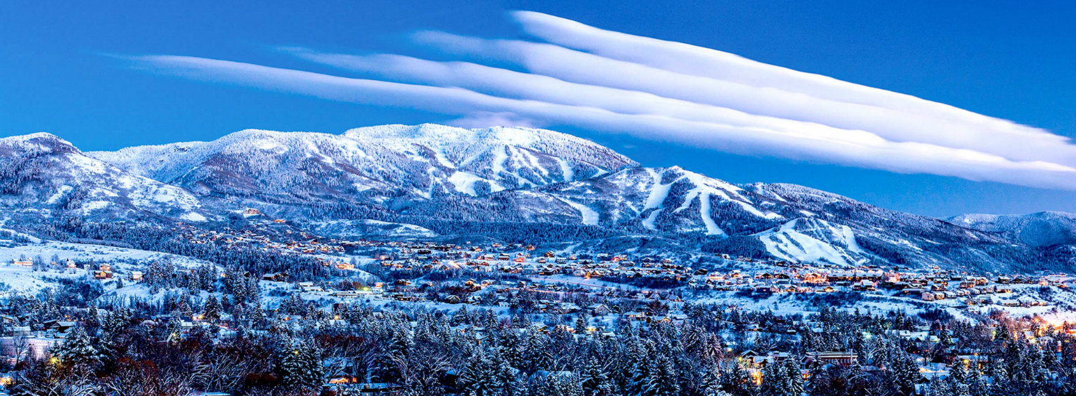 Steamboat Ski Resort Town CO USA