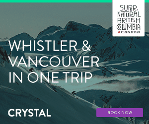 Whister and Vancouver Crystal Ski Ad