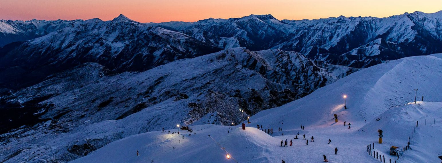 Coronet Peak Ski Resort Nightskiing New Zealand