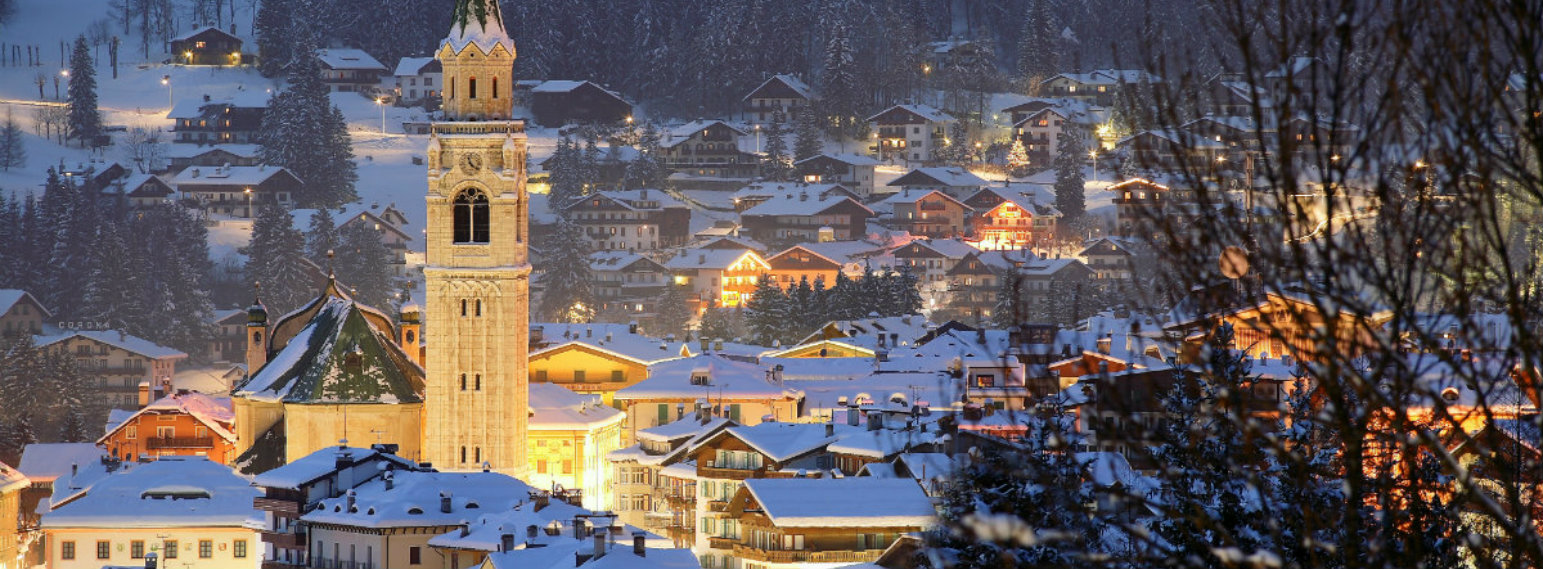 Cortina d'Ampezzo Town by night