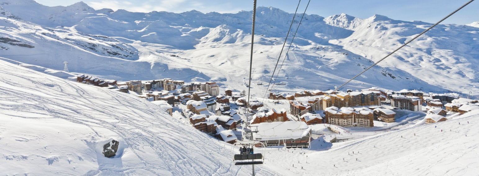 Val Thorens ski resort village