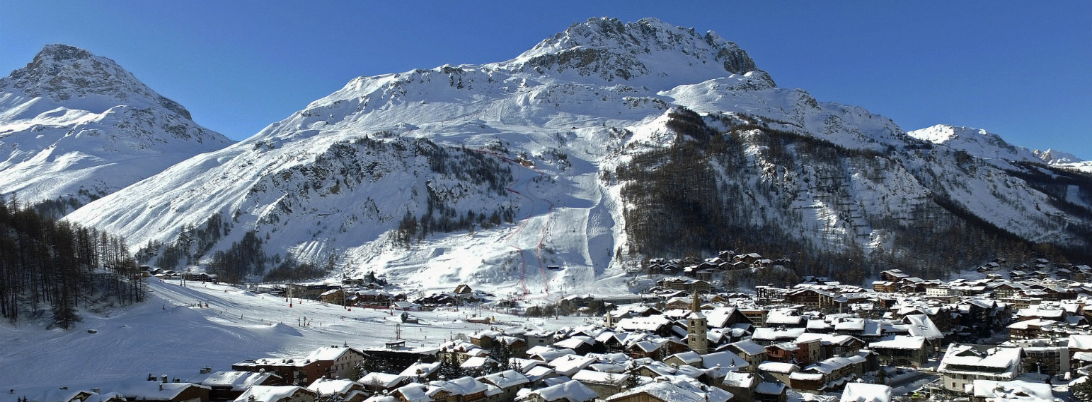 Val d'Isere Ski Resort village in winter