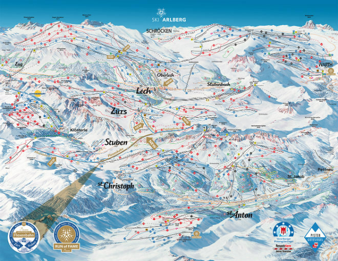 St Anton am Arlberg Ski Map 660x510