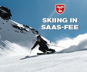 Skiing in Saas-Fee, Switzerland